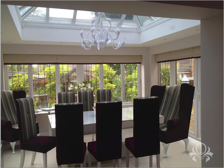 Conservatory as dining room interior design cobham surrey for Conservatory dining room design ideas