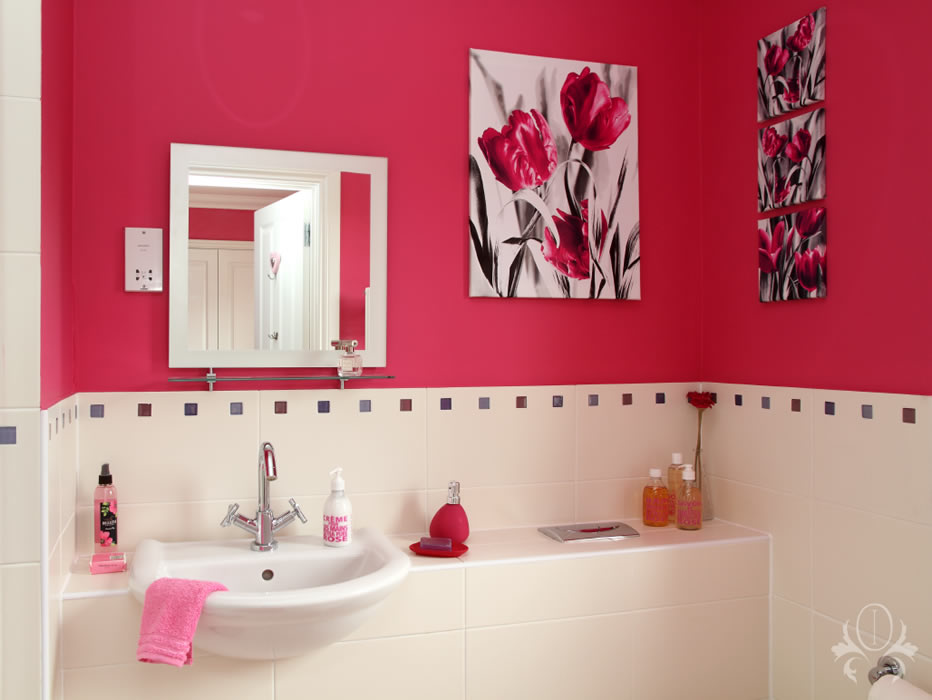 Cobham Interior Design Pink Bedroom Interior Design For Cobham Surrey Middlesex London