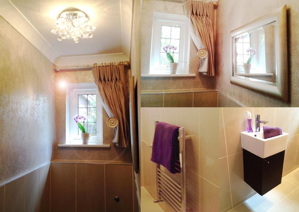 Ground floor cloakroom bathroom interior design for Bathroom interior design uk