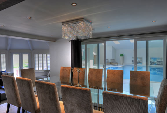 Home decorating ideas dining room with swimming pools for Pool room design uk